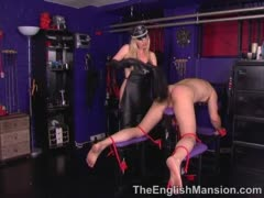 Bound in English Mansion for Femdom