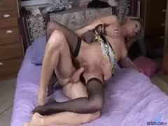 Blonde sexy mistress wants to be fucked deeper