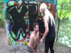 Dominatrix Humiliates White Slave in Ghetto