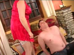 Step Mom Shows Him How Delicious Her Pussy Is
