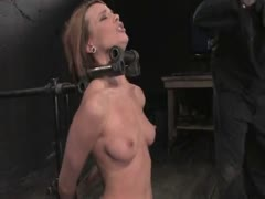 Dana DeArmond Immobile, unable to stop the hard cock from face fucking her skull