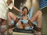 Here's some nice flogging and dildo gag penetration.