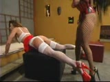 Venus aggressively fucks Kym Wilde while tied tight