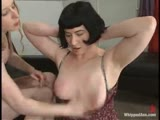 Sara Tonen willingly subs to Princess Kali, electric on ass/pussy