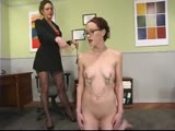Nina punished by Kym,  foot worship, tickle, Sybian, anal dildo
