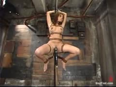Sativa tied up and forced to suck.