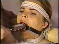 Ring gagged bondage