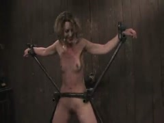 Katie Summers - Pigtails and nipple torture. Sweet