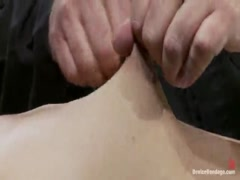 Angelica Saige - 20yr old co-ed trapped by only one bar - brutally fucked by a machine!