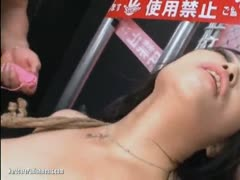 Hairy asian pussy probing