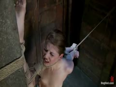 Intense foot caning, brutal orgasms ripped from her helpless body