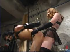 Sexy Domme abuses new pet slave
