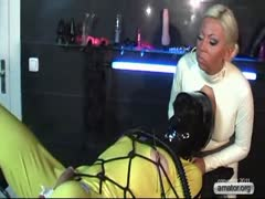 Domme Wrapps Up Her Scared Sissy
