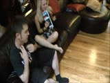 Dominatrix makes Tom a Foot Choking Scared Sissy