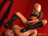 A driving instructor stay helpless by cruel woman domination