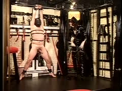 Unreasonable punishment of slave's cock and balls received
