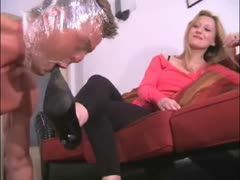 Deep feet smother worshipping from a blonde mistress