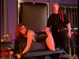 Mature Nina Hartley bondage fuck in a threesome