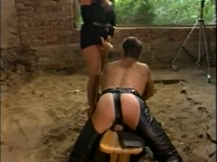 Tiziana Redford fucks her devoted slave