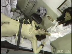 Fetish hospital torture doctor session to a redhead patient
