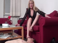 Cougar dominant mistress and her slave