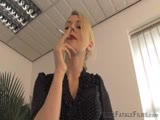 Smoking blonde mistress POV