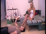 Mouth gagged slave boy smelly feet asphyxiation from his girlfriend