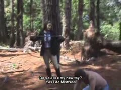 Forest intense whipping session