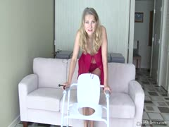 Mature femdom seating in toilet seat POV