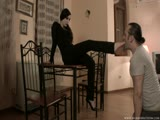 Foot fetish balkan brat smothered slave with her feet