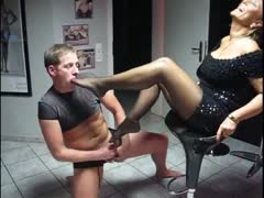 Ruthless MILF'S controlled a young stud