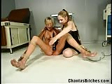 Lascivious blonde in bondage and BDSM by her naughty doctor