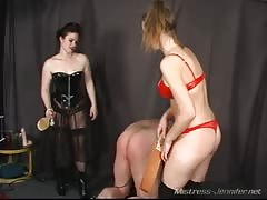 Fetish femdom bitches spanking and pegging