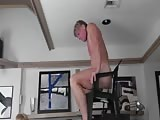 Dildo chair for slaves ass
