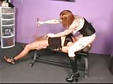 Depraved brunette smothering and ball busting punishment