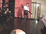 Extreme long whip torture a slave  received