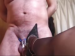 Husbands cock is lock in chastity