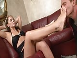 Submissive foot sniffer husband