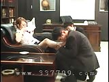 Asian mistress orally served in her office