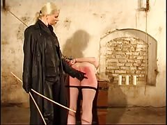 Ass ruined in severe caning