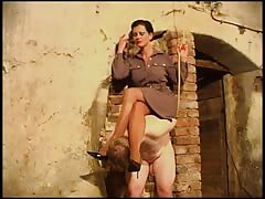 Superior woman plays slave in the basement