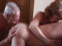 Old sub husband lick's man's anal