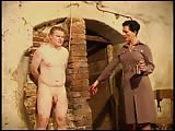 Strict Mistress Cheyenne and her nude slave
