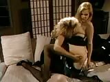 Two naughty blondes teasing a sub long haired chap