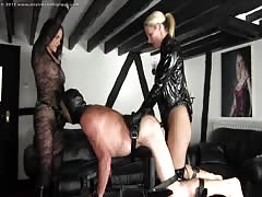 Mistress Nikki and Mistress Rebecca's pegging session