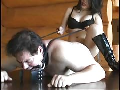 Busty domme BDSM anal strapon fucking