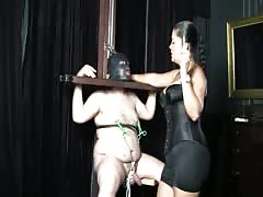 Helpless for Mistress Tatjana's torture