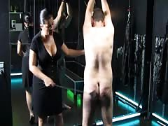 Big breasted Mistress Tatjana disciplining slave