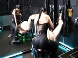 Bondage slave face smothered with mistress big ass