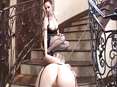 Blonde female BDSM slave